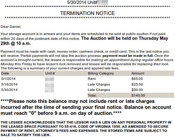 Termination Notice